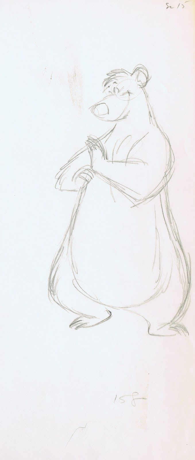 Jungle Book - Milt Kahl ..Balloo one of my all time Fav. Characters ..in everything lol!