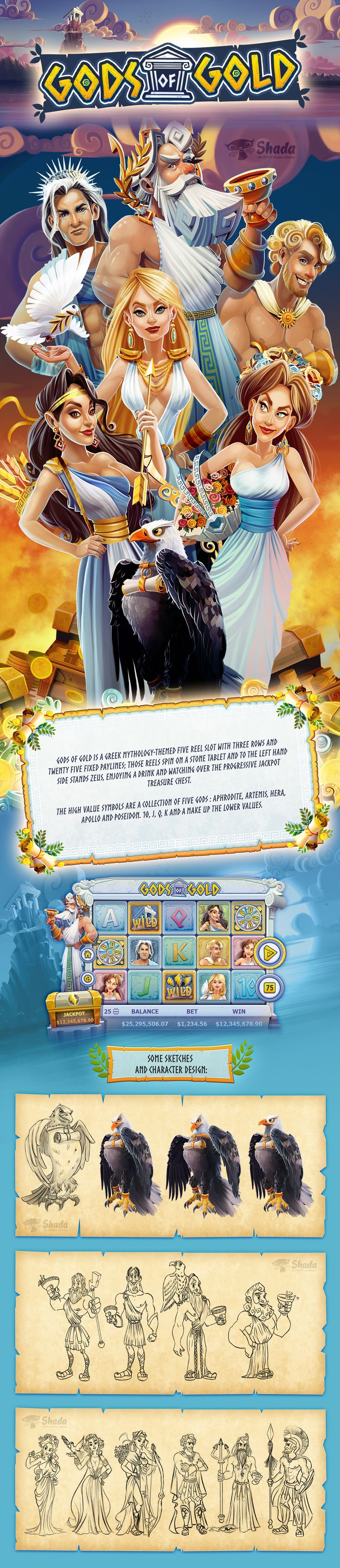 GODS OF GOLD videoslots game on Behance