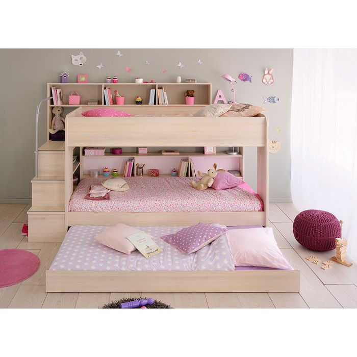 You'll love the Camaflexi Low Twin Bunk Bed with Trundle at AllModern - With Great Deals on modern Baby & Kids  products and Free Shipping on most stuff, even the big stuff.