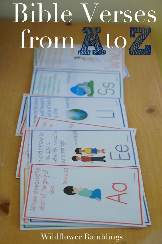 Bible Verse Cards from A to Z - free printable! from wildflower ramblings                                                                                                                                                                                 More