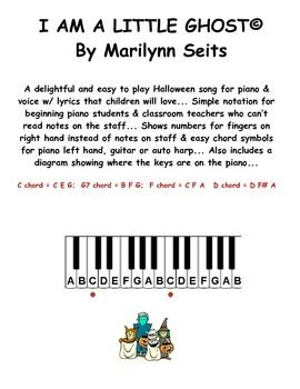 a delightful and easy to play halloween song for piano voice w lyrics that children - Halloween Songs For Preschoolers