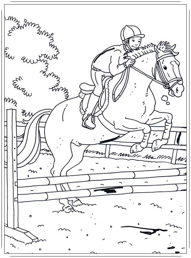 Ausmalbilder Pferde mit Reiterin | Ausmalbilder pferde zum ...