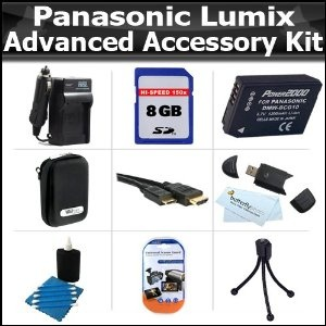 Click Here http://gadget-core.com/bestseller.php?p=B004BFC27Y For Best Price and Cheap 8GB Advanced Accessory Kit For Panasonic Lumix DMC-ZS7 DMC-ZS10, DMC-ZS8 DMC-ZS9 DMC-3D1, DMC-ZS20, DMC-ZS15 Digital Camera Includes 8GB High Speed SD Memory Card + Case + Extended Replacement Panasonic DMW-BCG10 (1200 mAH) Battery + AC/DC Charger + More (Electronics) Best Seller and Best Buy click image to review :D