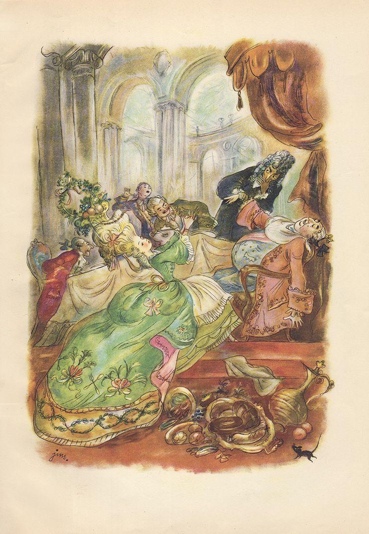 """""""Dziadek do Orzechów i Król Myszy"""" Illustration by J. M. Szancer"""