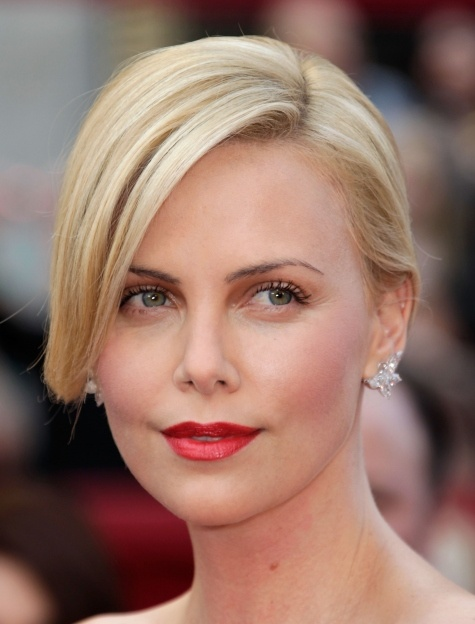 Charlize Theron- Oscars 2010- Rouge Dior Lipsticks in Celebrity Red, and Creme de Rose