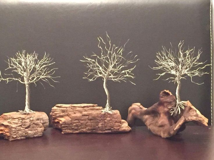 "Wire tree sculptures for sale, they measure 4-5"" in height, you can visit my Facebook page at- Bird On The Branch to place orders and  heck out more gift ideas....$40 dollars plus shipping costs."