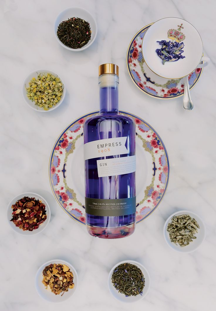 Empress Gin is made with 8 All-Natural Botanicals, Hand-selected botanical sourcing and Fair Trade grains enhance Empress 1908 with a sustainable purity.