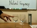 Explanation and demonstration of the natural frequency of an object.