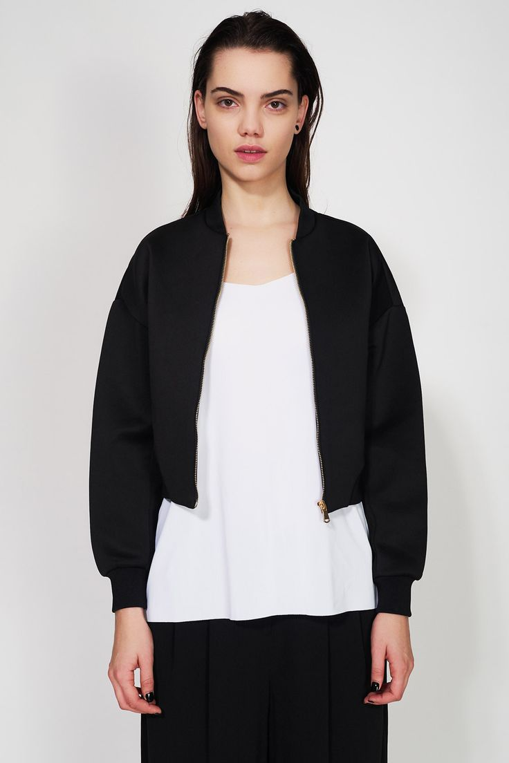 SIXTH JUNE - NEOPRENE SHORT JACKET #fashion #jacket #black #sixthjune #paris #streetwear