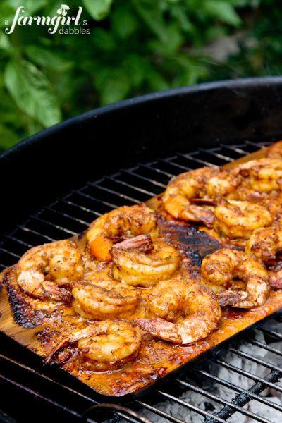 Grilled Caribbean Jerk Shrimp {2 ways} - www.afarmgirlsdabbles.com