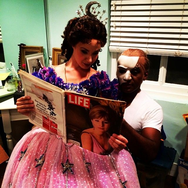 Sierra Boggess And Norm Lewis Backstage At The Phantom Of The Opera On  Broadway