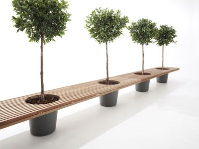Romeo & Juliet Bench - With 2 flower pots - L 320 cm by Extremis