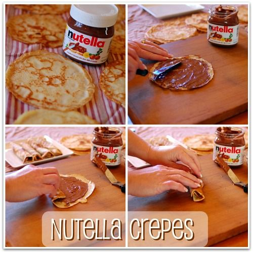 Nutella crepes for breakfest Mmmm