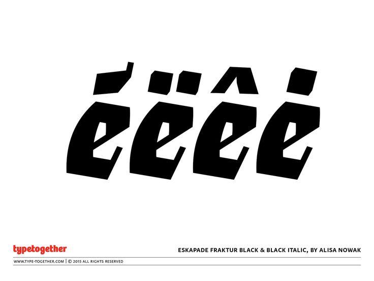 Coming soon: Eskapade Fraktur Black & Black Italic | by TypeTogether