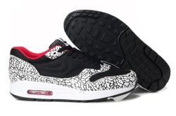 Fashion Nike Air Max 1 Black White Red Men's Running Shoes Trainers 308866 061