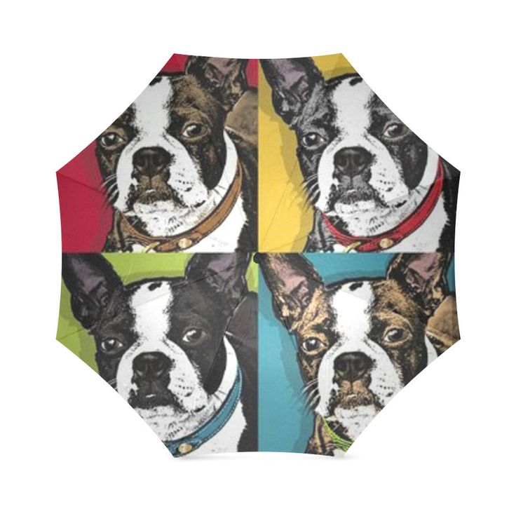 Boston Terrier Folding Umbrella. by bestofbloodybritish on Etsy