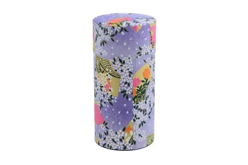 """Boîte à thé japonaise""""washi"""" violet. www.oranjade.com"""