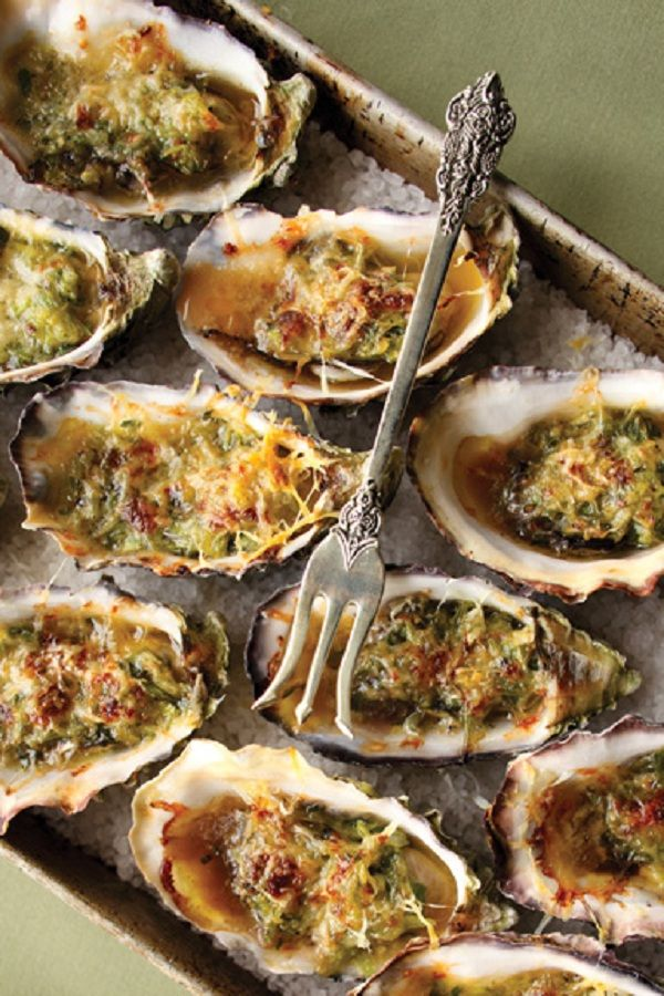 Cognac and Gruyere Oysters