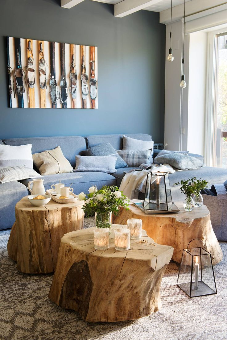 """Putting The """"Living"""" Into Your Living Room Furniture Room Interior, Interior Design Living Room, Living Room Decor, Interior Decorating, Log Coffee Table, Diy Casa, The Design Files, Wooden Shelves, Wooden Tables"""