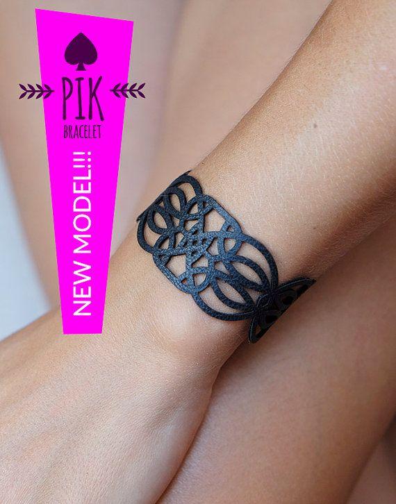 NUEVO MODELO Pulseras de cuero de cuero pulsera por PikBracelet