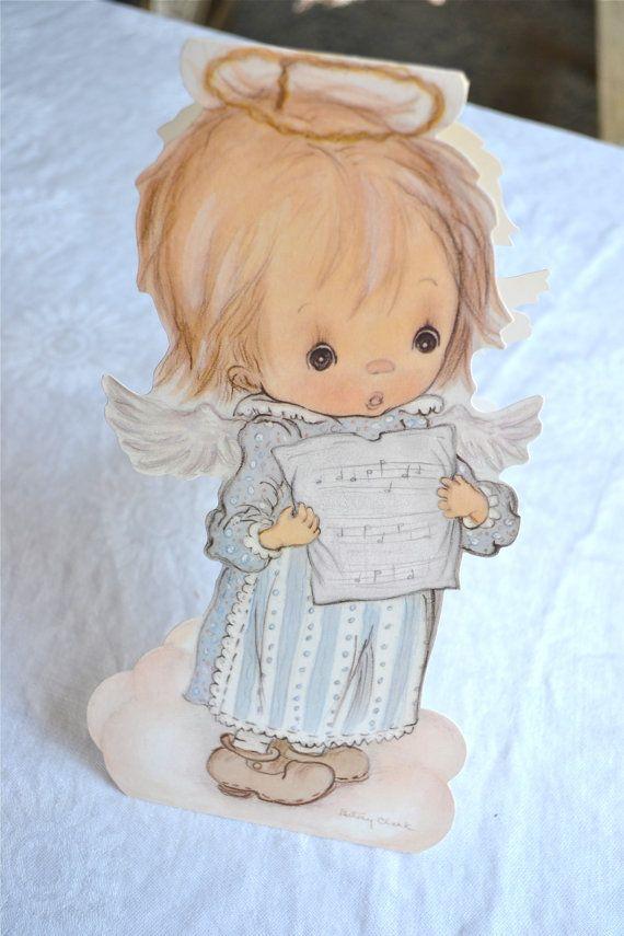 Vintage Christmas Card - Betsey Clark Angel
