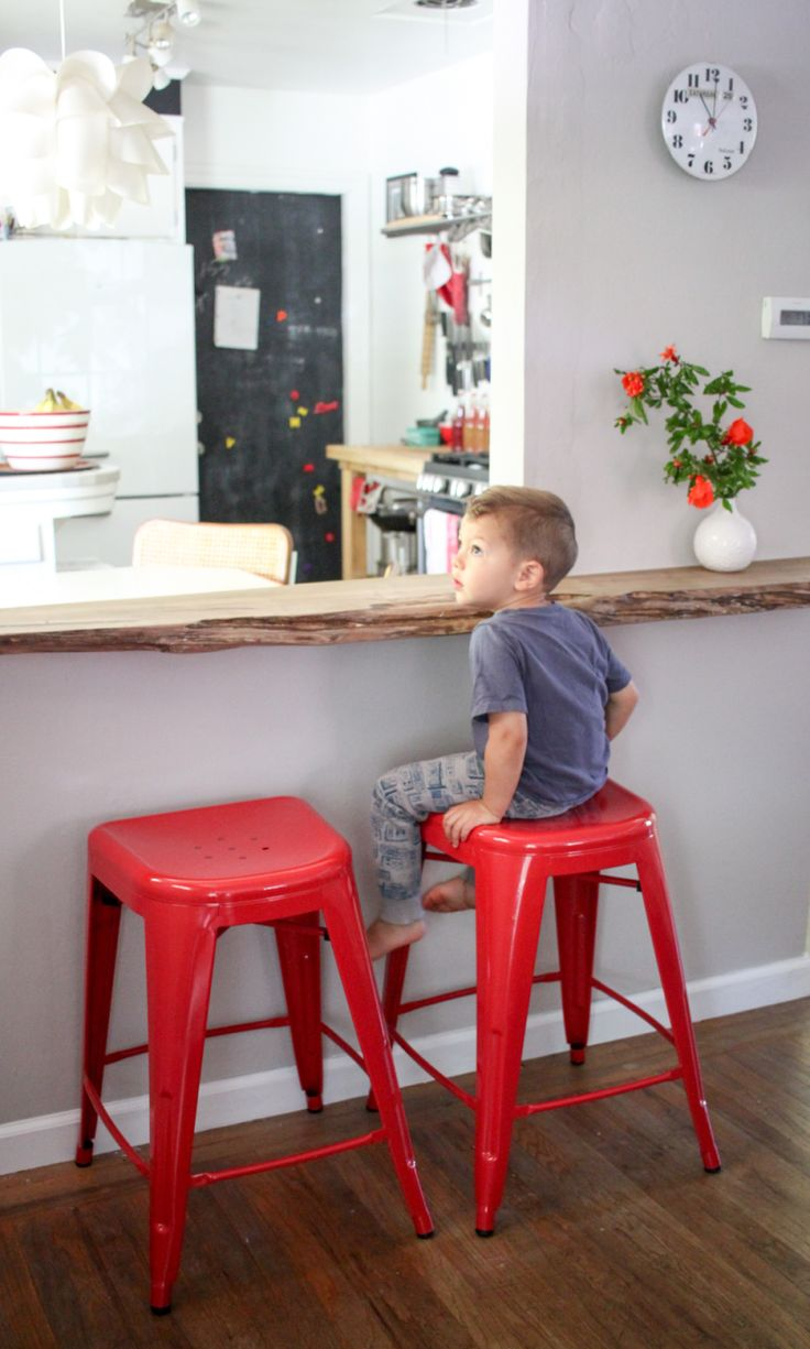 Extra seating in a small kitchen.