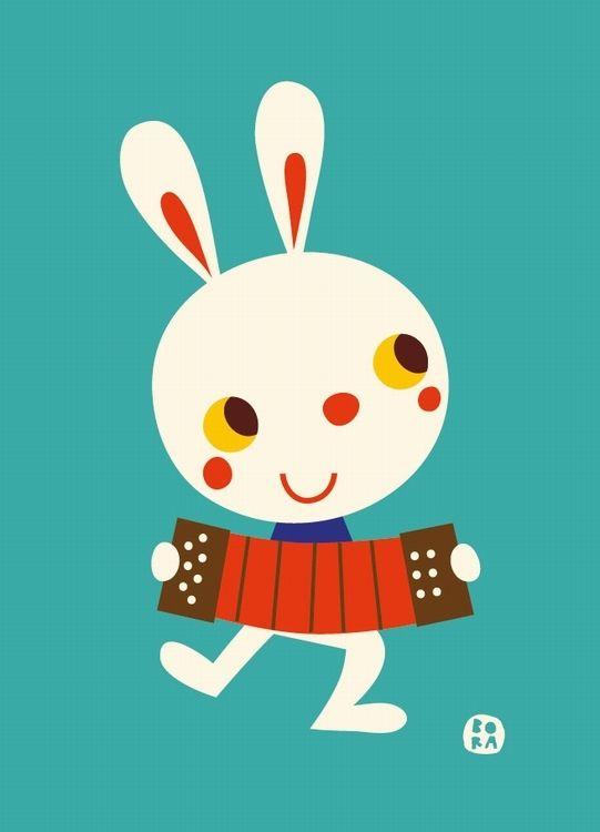 #Greeting #card #bunny by #Bora from www.kidsdinge.com https://www.facebook.com/pages/kidsdingecom-Origineel-speelgoed-hebbedingen-voor-hippe-kids/160122710686387 #kidsdinge #kids #speelgoed #toys