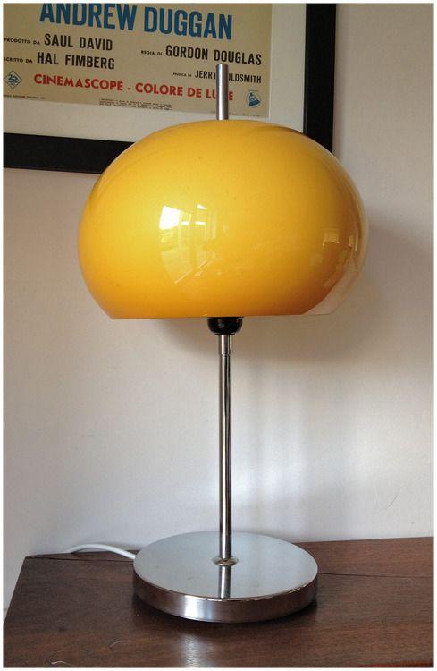 A wonderful original 1970's Habitat chrome table lamp with warm Honeycomb coloured shade.  POA retrorumage@gmail.com