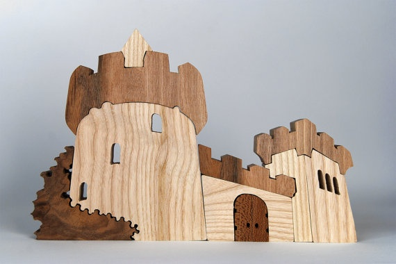 Wooden toy castle, Tymba Toys