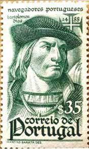 """BARTOLOMEU DIAS - (1450-1500) - 1º a navegar para além do extremo sul de África """"dobrando"""" o Cabo das Tormentas -> Cabo da Boa Esperança em 1487/8 e chegar ao Oceano Índico, a partir do Oc. Atlântico."""