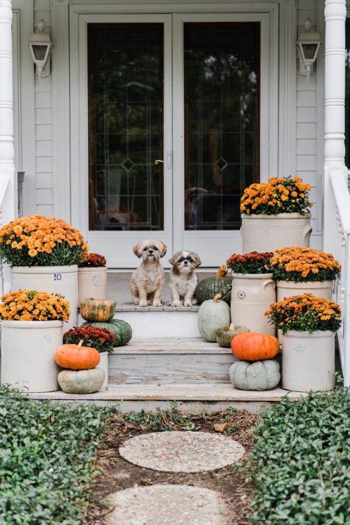 Cozy Rustic Fall Porch