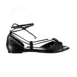 Siyah Suni Deri Biyeli Babet Ayakkabı