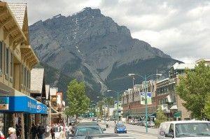 Cascade mountain in Banff, Alberta, Canada