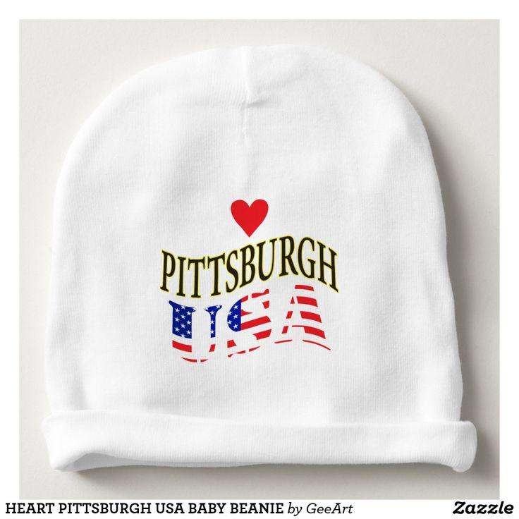 HEART PITTSBURGH USA BABY BEANIE