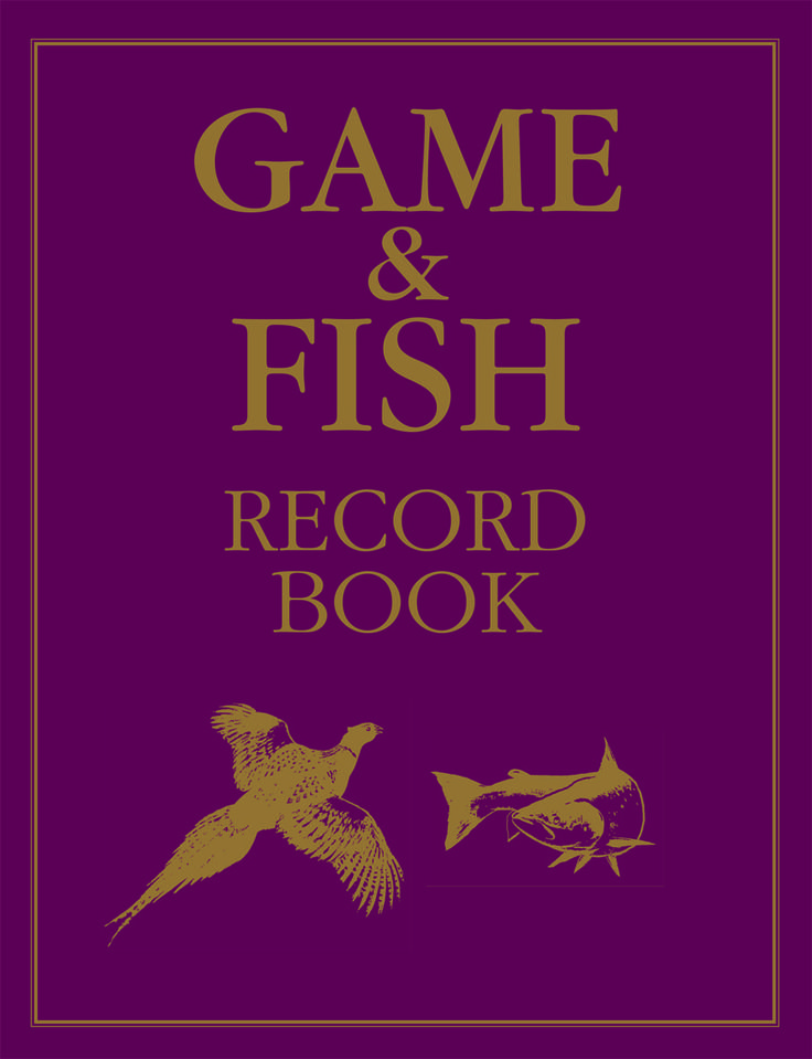 Game & Fish Record Book with illustrations by Rodger McPhail | Quiller Publishing. A beautifully produced large format journal, ideal for both game shooting and fishing records with ample space for date, location, guns/rods, bag and comments. Illustrated with McPhail's colour paintings of game and fish species this all new design is an alternative to the more luxuriously bound Game Record Book. #shooting #game #fish #record