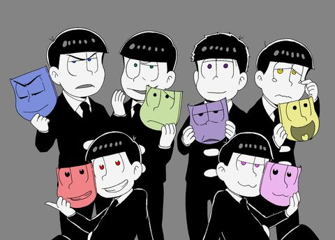 「六つ子の仮面」/「ふぃ~」のイラスト [pixiv]