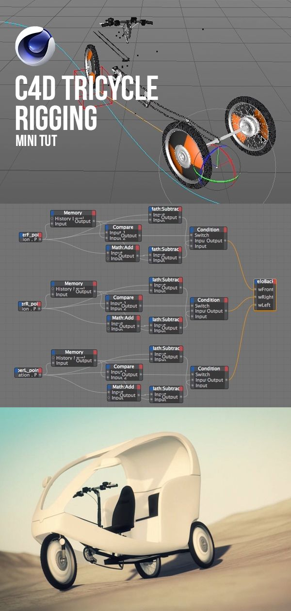C4D tricycle rigging  Get inspired with Cinema 4D mini