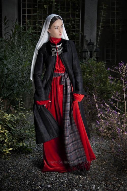 Sophio.    Traditional Georgian dress by Samoseli Pirveli.