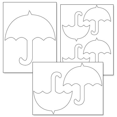 556 best templates patterns images on pinterest for Printable umbrella template for preschool