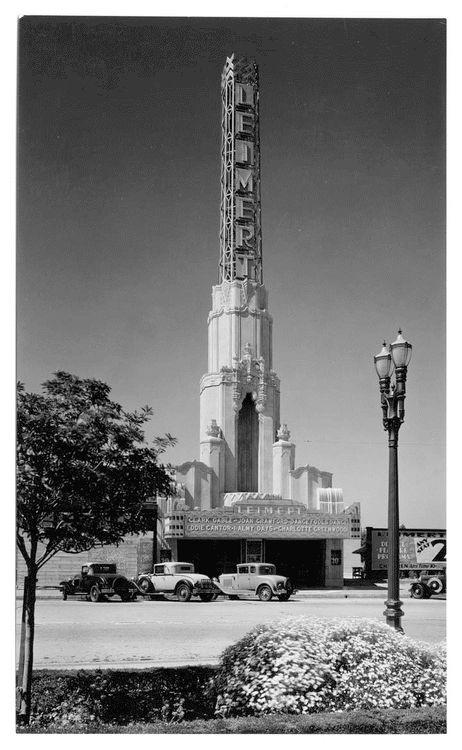 """Any Seat 20¢ Any Time"": The Leimert Theater at 3341 W. 43rd Pl. in Los Angeles, 1933. The theater still stands in Leimert Park."