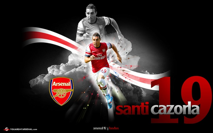 Newly designed Santi Cazorla wallpaper