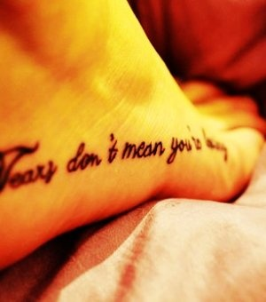 More lovely foot quote tattoos for girls stuffs, check out LoveItSoMuch.com. Discover amazing stuffs & unique products you never heard of!