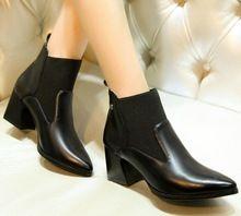 Enmayer nueva 34-39 botas moda mujeres tobillo casual colegio nieve botas de plataforma negro botas moto roca zapatos de ocio(China (Mainland))