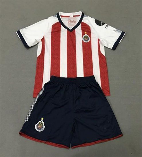 kids chivas 2017 18 season home liga mx kit