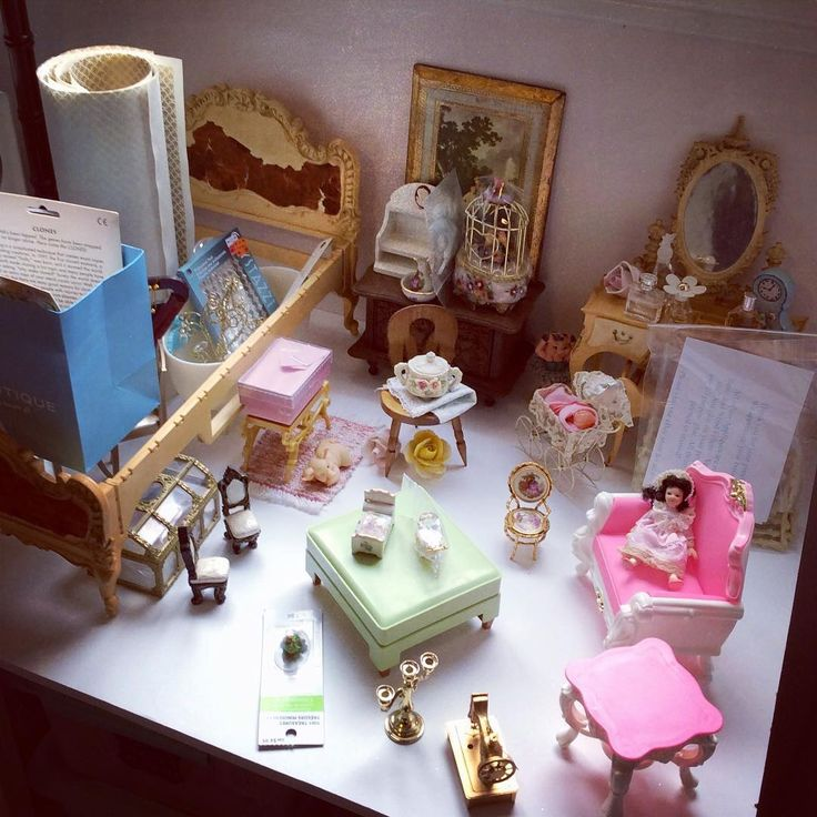 """107 Likes, 4 Comments - Eenie Q (@eenieqdolls) on Instagram: """"One of three Antoinette themed dioramas that I am working on. Suzy Goose and miniature Limoges.…"""""""