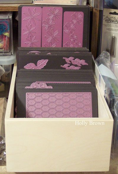 LOVEFEST2014D Holly's Die Storage by hbrown - Cards and Paper Crafts at Splitcoaststampers