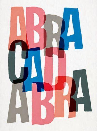 abracadabra typography