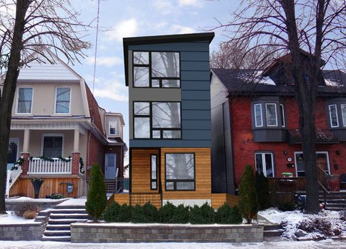 1000 images about urban infill on pinterest for Narrow lot modern infill house plans