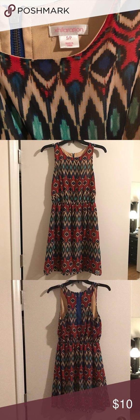Xhilaration Aztec racetrack dress This adorable Aztec print dress is perfect for a summer evening out. Xhilaration Dresses Mini