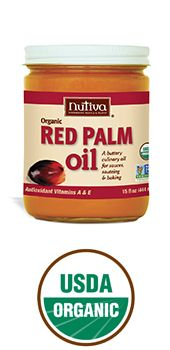 Nutiva Red Palm Oil -- what's not to love?! Wonderful, buttery flavor; filled with antioxidants; high smoke point (~425°F) makes it perfect for frying; no trans fatty acids; Nutiva is from Ecuador = no orangutan habitats harmed.